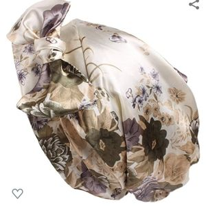 3/$25 Satin Floral Hair Night Cap / Turban